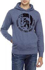 DIESEL SCENTYN-S Men's 'ONLY THE BRAVE' Blue Hooded Sweatshirt Size 2x
