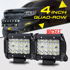 """4inch 240W QUAD-ROW SPOT Pods Cube CREE LED Light Bar Offroad For Chevrolet 3/5"""""""