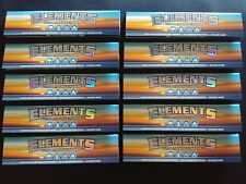 10 x Elements King Size Slim Rice Cigarette Rolling Papers Natural Organic 110mm