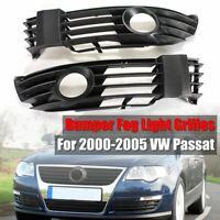Pair Front Bumper Fog Light Grill Grilles Cover For VW Passat B5.5 2001-2005 US
