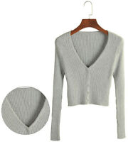 Small Cardigan Cashmere Jackets Women V-neck Slim Sweater Short Knitted Coat Top
