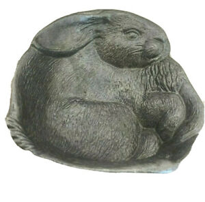 Wilton Armetale RWP Pewter Bunny Rabbit Trinket Candy Dish Easter 5 in x 6 in