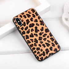For iPhone X 8 6s 7 Plus Leopard Camouflage Rubber Silicone Soft Back Case Cover