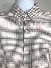 BONOBOS Slim Fit Men Check 100% Cotton Full Sleeve Shirt Size Large