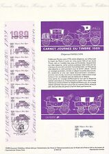 Document Philatélique 1er Jour : 15/04/ 1989 Journée du Timbre Diligence Carnet