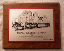 Vintage Soo Line Railroad Employee Safety Award 1984 Limited Edition 790/1500
