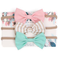 Hot 3pcs/set Infant Baby Girl Cute Bow Headband Newborn Headwear Headdress