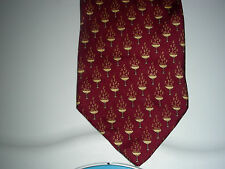 BROOKS BASICS PURE SILK TIE USA WITH YEAR 2000 ON TOP OF CHAMPOAGNE GLASSES NWT
