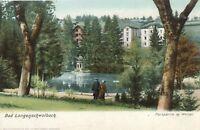 BAD LANGENSCHWALBACH – Parkpartie m. Weiher – Germany – udb (pre 1908)