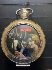 Vintage Budweiser Rotating Clock Not Sure If It Work70's Era Weighs About 10lbs