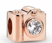 Genuine Pandora Rose Gold Camera Charm 787986CZ with Free Pandora Pouch
