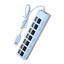 1x USB Hub 7 porte USB +7 adattatore interruttore per il computer portatile HK
