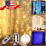 300LED Party Wedding Curtain Fairy Lights USB String Light W/ Remote Control LO