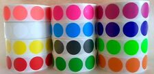 "1000/ROLL  3/4"" CIRCLE COLOR CODED LABEL DOT STICKERS INVENTORY CODE (12 COLORS)"