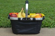 FOLDING MARKET TOTE - GREAT FOR PICNIC SHOPPING & SPORTS COLLAPSIBLE BASKET