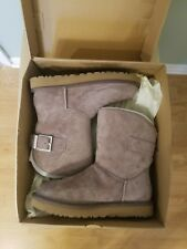 UGG Remora  Buckle Bling Crystal NEW   Winter boot size 6.Stormy gray sheepskin