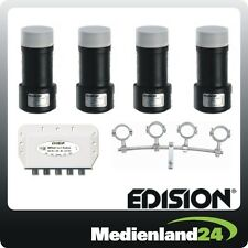 Edision Multi-feed set 4 x Single LNB DiSEqC 4x1 track height adjustable