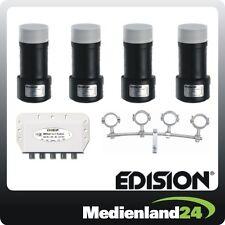 Edision Multifeedset 4x Single LNB DiSEqC 4x1 Multifeedschiene höhenverstellbar