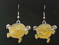 LITTLE MISS SUNSHINE Earrings Surgical New Mr Men retro yellow