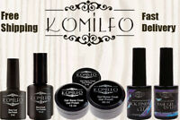 Komilfo Gel LED UV Nail Polish Rubber Base Matte Top No Wipe Top Coat BEST PRICE