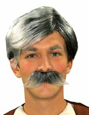 Adult Gepetto Moustache Grey Hair Old Man Pinocchio Costume Accessory Wig NEW