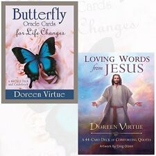 Doreen Virtue Butterfly Oracle Cards, Loving Words from Jesus 2 Oracle Cards NEW