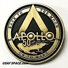 APOLLO 11 50th - LUNAR FLOWN METAL - BACK TO THE MOON, ON TO MARS - ORIGINAL PIN