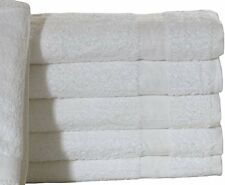 6 NEW COTTON 24X50 WHITE HOTEL PLATINUM BATH TOWELS HOTEL SPA RESORT IRG**