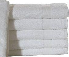 2 NEW COTTON BLEND 24X50 WHITE HOTEL PLATINUM BATH TOWELS HOTEL SPA RESORT IRG