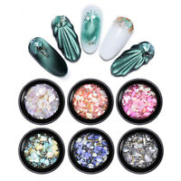 3D Nail Art Decoration Shell Metal Rivet Beads Rhinestone Nail Decors Mixed Size