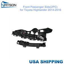 Bumper Holder Bracket Set(2PC) Support Front Right for Toyota Highlander 2014-16