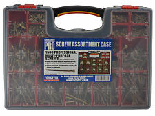 FORGEFIX 1500 Pce Wood Chipboard Zinc Screws Screw Assortment Set + Carry Case