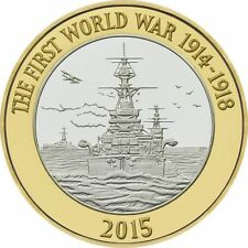 2015 £2 HMS BELFAST WORLD WAR ONE WW1 BRILLIANTLY UNCIRCULATED 30/32 POUND 2 b