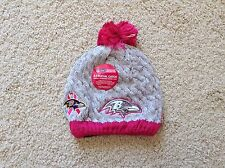 New Era BALTIMORE RAVENS Breast Cancer Awareness BCA Women Knit Beanie Hat