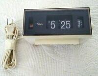 Vintage Mid Century Sears Roebuck Flip Alarm Clock Tradition 7101 SEE VIDEO