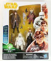 Star Wars Force Link 2.0 Mission on Vandor-1 3.75 inch Figure 4-pack NEW