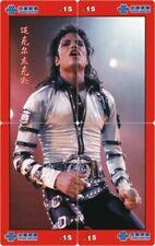 Michael Jackson 4 telefoonkaarten/télécartes  (MJ63-77 4p)