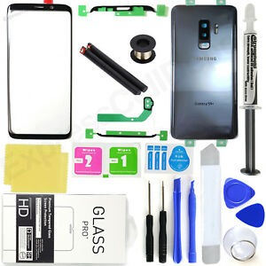 Front Screen Glass Back Replacement Kit for Samsung Galaxy S9 Plus G965 -Gray-