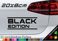 Black Edition Sticker Aufkleber schwarze Perle Auto Love Car JDM Spruch 20x8cm