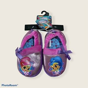 Shimmer and Shine Slippers Size 9/10 For Toddler Girls New Velvet