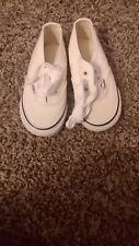 Vans white shoes. Infant Size 8. Original Fire Engine Box