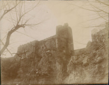 Espagne, Buñol, Le château, 1908, Vintage citrate print Vintage citrate print