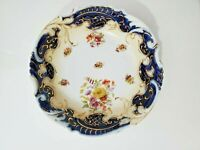 "RS Prussia Cobalt Blue Floral Bowl 9.25"""