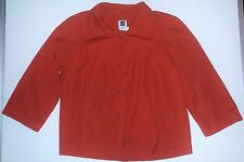 EUC Gap Red Cropped Fly Away Jacket 100% Cotton Size Medium