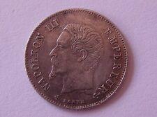 20 cts Napoleon III Tête Nue 1863 BB Rare
