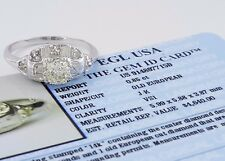 1.05 ct Vintage PLAT/14k Old European Diamond Engagement Ring EGL USA Rtl $4,640