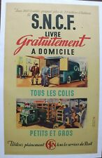 AFFICHE SNCF 1947 TRACTEUR semi remorque FAR F.A.R. camion scammel scarab poster