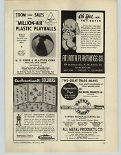 1947 PAPER AD Authenticast Toy Soldiers Hand Painted Metal Hafner Train Sets