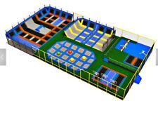 5,000 sqft Commercial Trampoline Park Dodgeball Rock Climb Gym Ninja We Finance