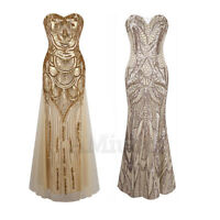 1920s Flapper Gatsby Dress Cocktail Party Sequin Wedding Bridesmaid Gown Dresses
